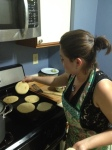Janneth making pupusas