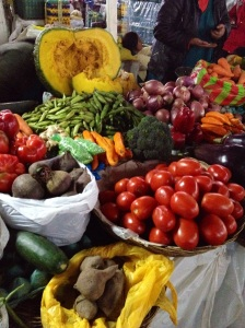 Vegetables at the Cusco market