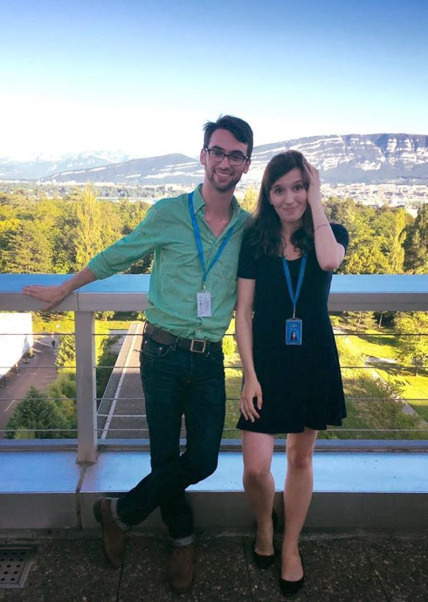 Scott and Sophie at WHO in Geneva